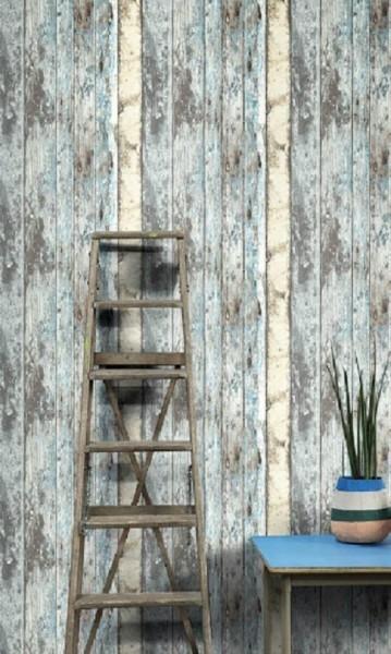 Neu vlies tapete antik holz rustikal verwittert beige for Tapete rustikal