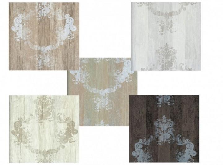 Tapete Holzoptik Rustikal : Vlies Tapete Antik Holz rustikal braun, hell grau,beige grau Elements