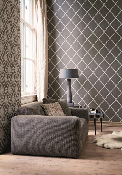 vlies tapete rauten muster braun beige karo caro kariert. Black Bedroom Furniture Sets. Home Design Ideas